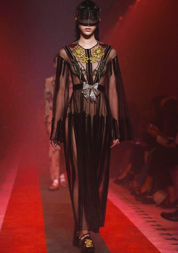 Gucci MFW SS17 Sheer Trend - Parisian Wholesale