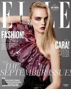 Elle September 2016 - Cara Delevingne Cover - Parisian Wholesale