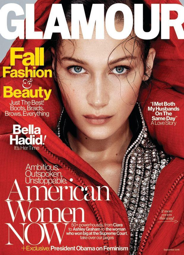 Glamour Magazine September 2016 - Bella Hadid Cover - Parisian Wholesale
