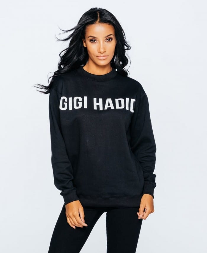 Gigi Hadid Slogan Graphic Print Jumper - Parisian Wholesale