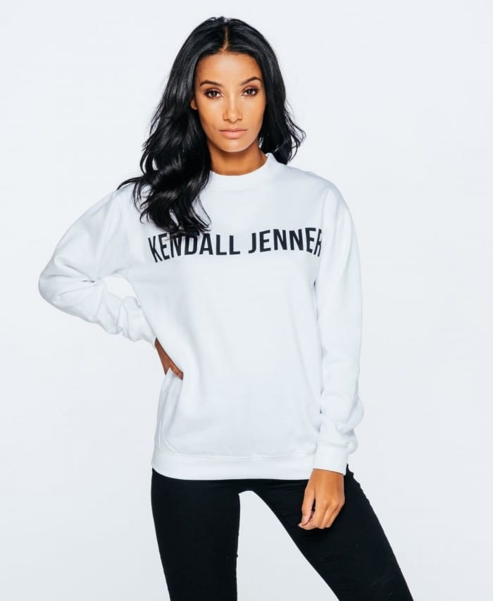 Kendall Jenner Slogan Graphic Print Jersey Jumper - Parisian Wholesale
