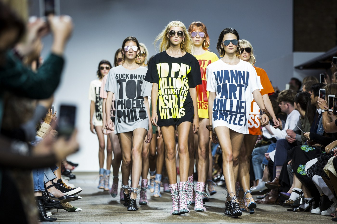 Parisian Wholesale LFW SS17 Graphic Slogan Print Tees
